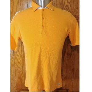 Zegna Sport Italy Orange/White Polo Sz L